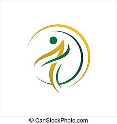 abstract healthy people logo design vector illustrations