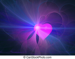 Abstract heart aura - Heart emanating an aura, abstract...