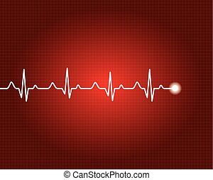 Abstract heart beats cardiogram illustration.