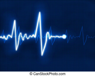 cardiogram  - Abstract heart beats cardiogram for you design