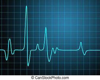 cardiogram - Abstract heart beats cardiogram illustration