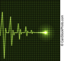 Abstract heart beats cardiogram