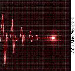Abstract heart beats cardiogram illustration - vector
