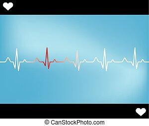 Abstract heart beats cardiogram illustration