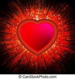 Abstract Heart Burst Background. EPS 8