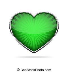 Abstract heart button. Vector illustration