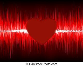 Abstract Heart cardiogram. EPS 8