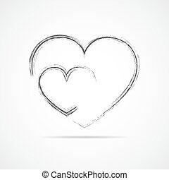 Abstract heart icon. Vector illustration.