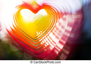 Abstract heart photo, soft focus, greeting card background