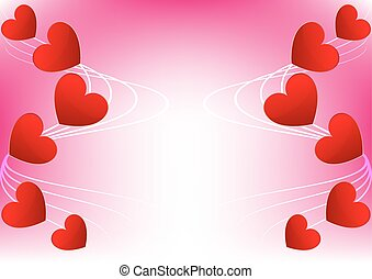Abstract  heart red for Valentine Card  Design