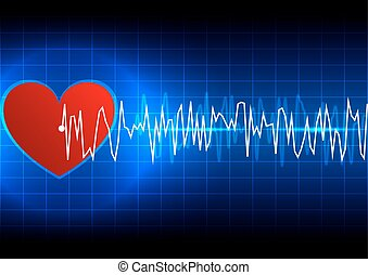 abstract heart rhythm ekg technology background