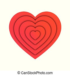 Abstract heart shape, love concept vector illustration