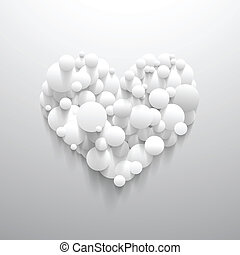 Abstract heart shape with white circle