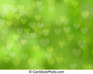 Abstract heart-shaped bokeh background