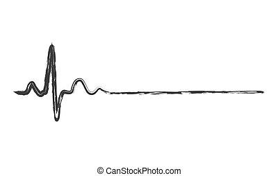 Abstract heartbeat icon - illustration.