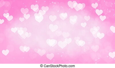Abstract Hearts Bokeh Background.