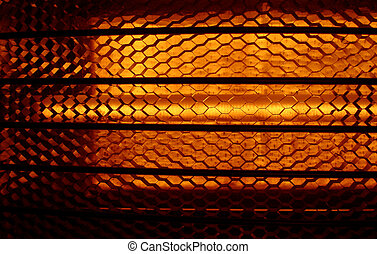 Abstract heat - Closeup of a heater