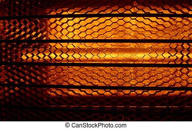 Abstract heat - Closeup of a heater