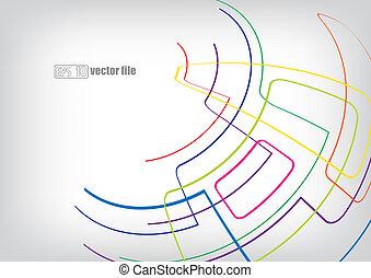 abstract, helder, achtergrond, vector
