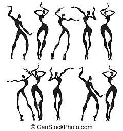 abstract, het dansen cijfers