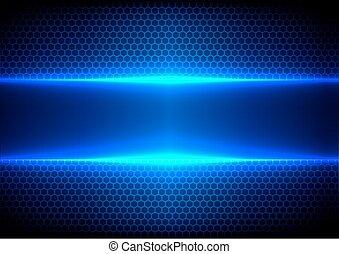 abstract hex light blue effect blue technology - Vector hex ...