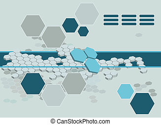 abstract hexagon background - Background featuring hexagons.