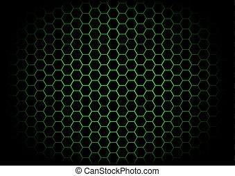 abstract hexagon dark green background