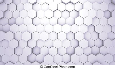 Abstract Hexagon Geometric Intro. Animated Surface Loop...