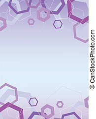 Abstract hexagon hi-tech science frame pattern background