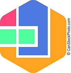 Abstract Hexagon Logo Concept