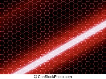 abstract hexagon on dark red background