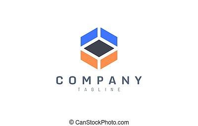 abstract hexagon vector design concept. Perfect for logo tech