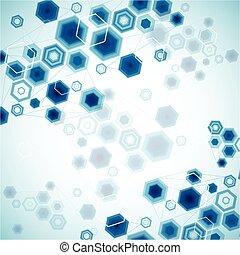 Abstract Hexagonal Background. Vector