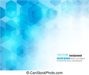 Abstract Hexagonal Background. Vector. Template design for science or technology presentation