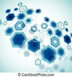 Abstract Hexagonal Background. Vector