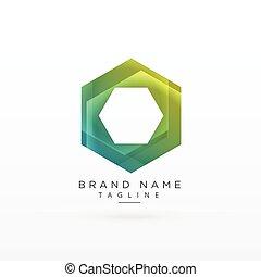 abstract hexagonal logo concept design