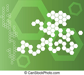Abstract Hexagonal Shapes Background green