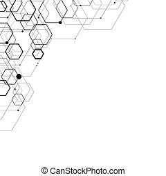 Abstract hexagonal structures.