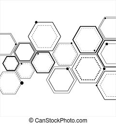 Abstract hexagonal structures