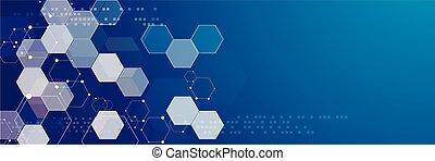 Abstract hexagonal structures