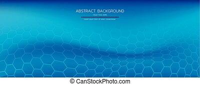 abstract hexagonal wave background vector