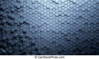 Abstract Hexagons Background Random Motion