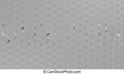Abstract Hexagons Background Random Motion, 3d Loopable Animation