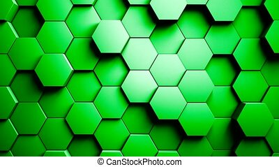 Abstract Hexagons Background Random Motion 4K - Abstract...