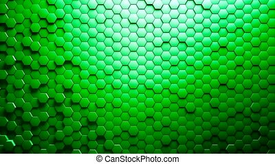 Abstract Hexagons Background Random Motion 4K