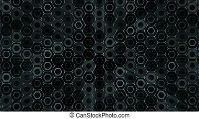Abstract Hexagons Background Random Motion.