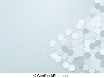 Abstract hexagons background with space for your text