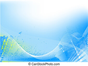 Abstract hi tech background - Abstract blue hi tech...