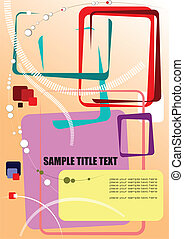 Abstract hi-tech colored composition. Vector illustration for designers