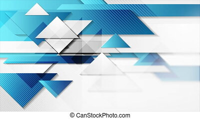 Abstract hi-tech geometric motion design with glossy triangles. Futuristic background. Seamless looping. Video animation Ultra HD 4K 3840x2160